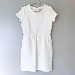 Vineyard Vines Zip Up Cream White Scuba Dress
